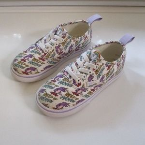 Vans Dallas Clayton Skating Unicorns Toddler Shoes